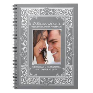 Vignette Bride's Wedding Planner Notebook (grey)