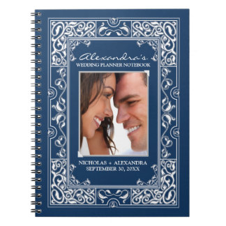 Vignette Bride's Wedding Planner Notebook (navy)