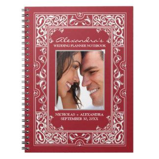 Vignette Bride's Wedding Planner Notebook (red)