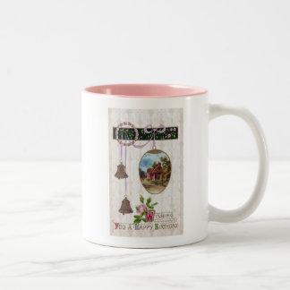 Vignette in Egg Vintage Birthday Two-Tone Coffee Mug
