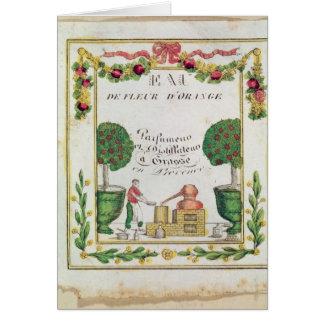 Vignette of 'Eau de Fleur d'Orange' Greeting Card