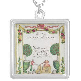 Vignette of 'Eau de Fleur d'Orange' Square Pendant Necklace