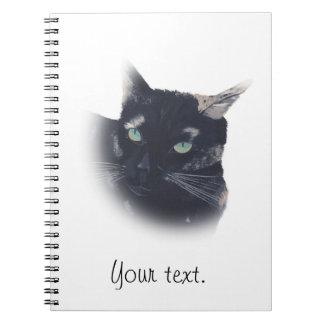 Vignette of Tortoise Shell Cat Face Notebook