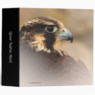 Vignetted Profile of a Peregrine Falcon Binder