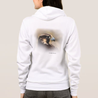 Vignetted Profile of a Peregrine Falcon Hoodie
