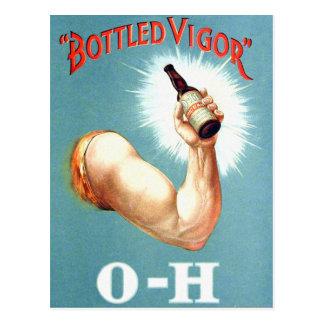 Vigor en botella malta retra de la cerveza del Bre Tarjetas Postales