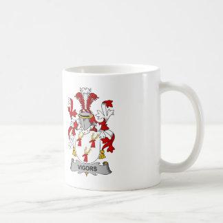 Vigors Family Crest Coffee Mugs