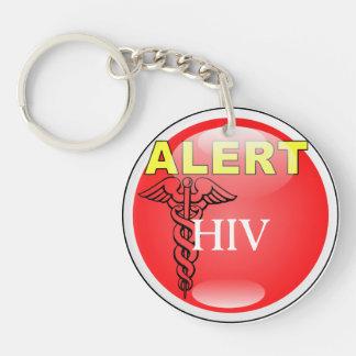 VIH alerta del Llavero de la emergencia del médico