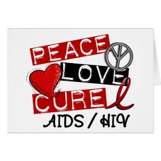 VIH del SIDA de la curación del amor de la paz Tarjeta De Felicitación