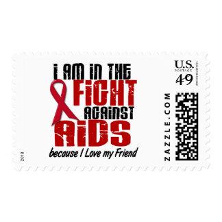 VIH del SIDA en el amigo de la lucha 1 Sellos