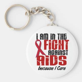 VIH del SIDA en el cuidado de la lucha 1 I Llavero