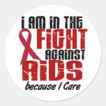 VIH del SIDA en el cuidado de la lucha 1 I Etiqueta Redonda