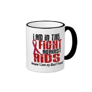 VIH del SIDA en el mejor amigo de la lucha 1 Taza De Dos Colores