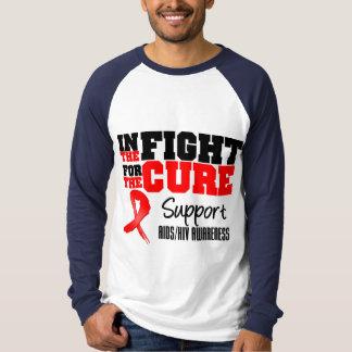VIH del SIDA en la lucha para la curación Polera