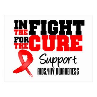 VIH del SIDA en la lucha para la curación Tarjeta Postal