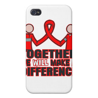 VIH del SIDA juntos diferenciaremos iPhone 4 Cárcasa