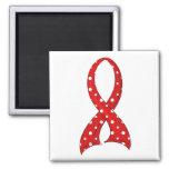 VIH rojo del SIDA de la cinta del lunar Imán Para Frigorífico