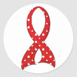 VIH rojo del SIDA de la cinta del lunar Etiqueta Redonda