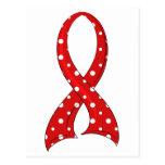 VIH rojo del SIDA de la cinta del lunar Postales