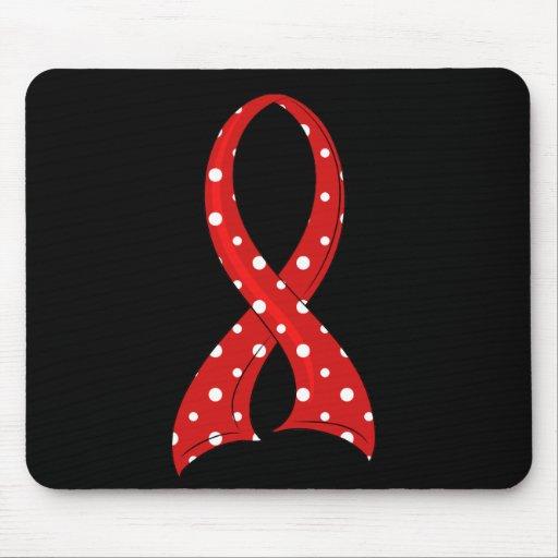 VIH rojo del SIDA de la cinta del lunar Alfombrillas De Raton