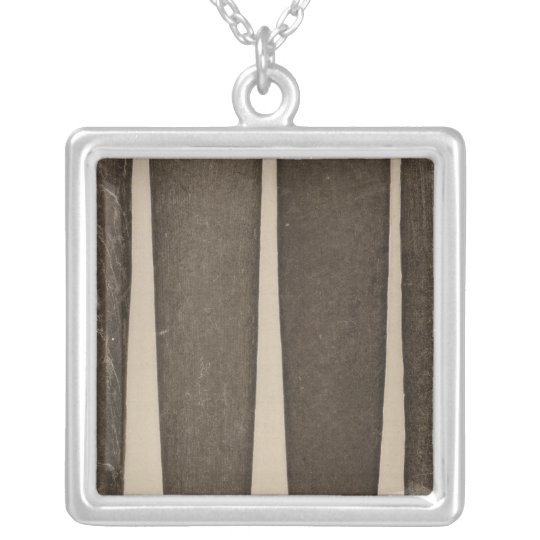 VII Stone pipes, So Calif Silver Plated Necklace