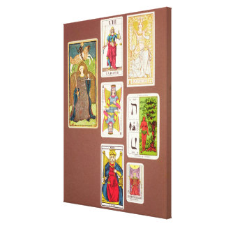 VIII Justice, seven tarot cards Canvas Print