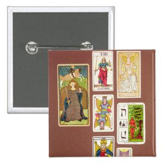 VIII Justice, seven tarot cards Pinback Button