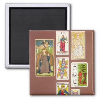 VIII justicia, siete cartas de tarot Imán Cuadrado