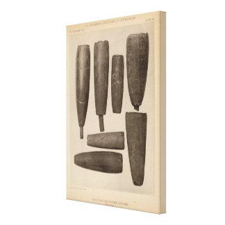 VIII tubos de piedra, tan Calif Impresiones En Lona Estiradas