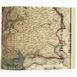 Viintage 1874 Europe Map Binder