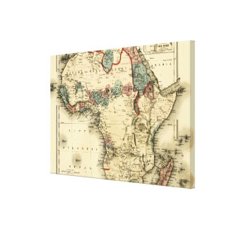 Viintage 1874 Map of Africa  Antique African Print