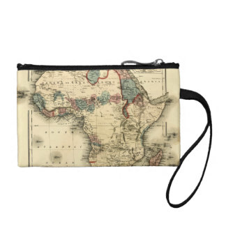 Viintage 1874 Map of Africa  Antique African Print Coin Wallet