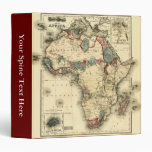 Viintage 1874 Map of Africa  Antique African Print 3 Ring Binder
