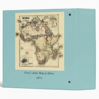 Viintage 1874 Map of Africa  Antique African Print Binder