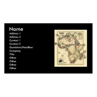 Viintage 1874 Map of Africa  Antique African Print Business Card