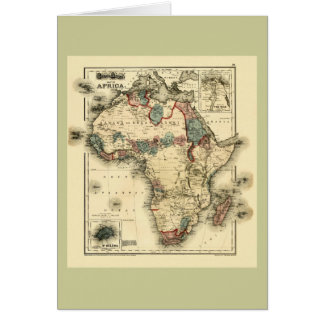 Viintage 1874 Map of Africa  Antique African Print Card