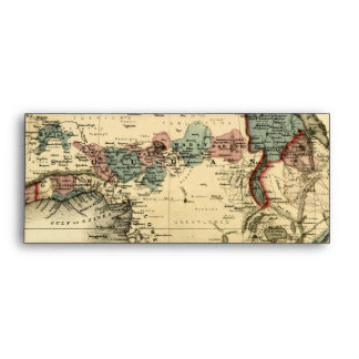 Viintage 1874 Map of Africa  Antique African Print Envelope
