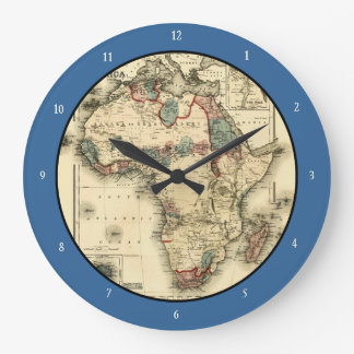 Viintage 1874 Map of Africa  Antique African Print Large Clock