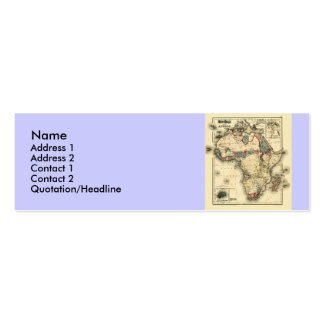 Viintage 1874 Map of Africa  Antique African Print Mini Business Card