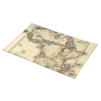 Viintage 1874 Map of Africa  Antique African Print Placemat
