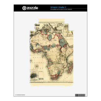 Viintage 1874 Map of Africa  Antique African Print Skins For The Kindle