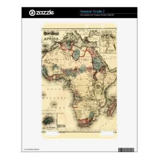 Viintage 1874 Map of Africa  Antique African Print Decal For The Kindle 2