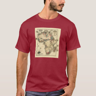 Viintage 1874 Map of Africa  Antique African Print T-Shirt