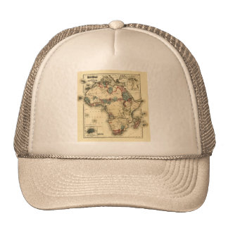 Viintage 1874 Map of Africa  Antique African Print Trucker Hat