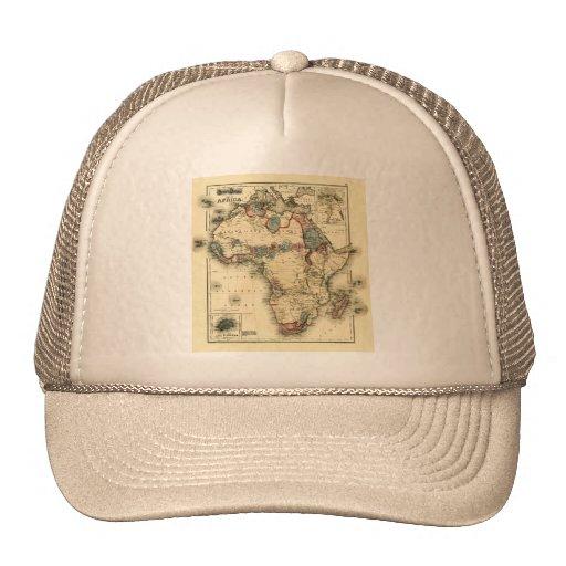 Viintage 1874 Map of Africa  Antique African Print Trucker Hat