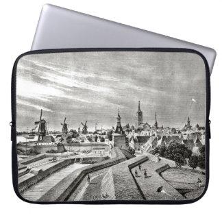 ViIntage Dutch design, Gorchinhem windmills Laptop Sleeve