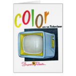 Viintage Kitsch Color TV 60's Ad Greeting Card