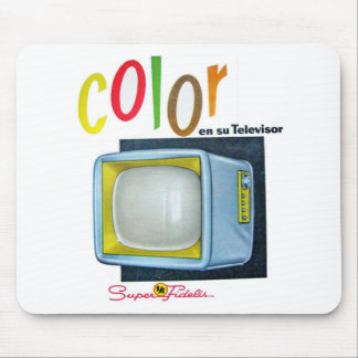 Viintage Kitsch Color TV 60's Ad Mouse Pad