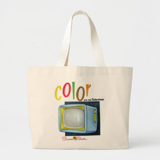 Viintage Kitsch Color TV 60's Ad Tote Bags