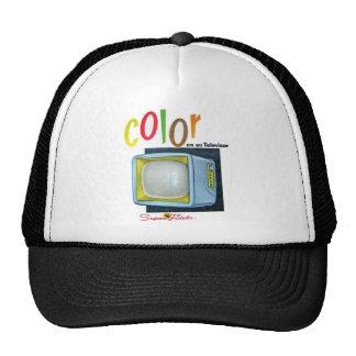 Viintage Kitsch Color TV 60's Ad Trucker Hat